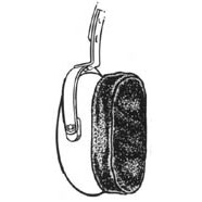 Motorola 15012094001 Headset Cloth Covers