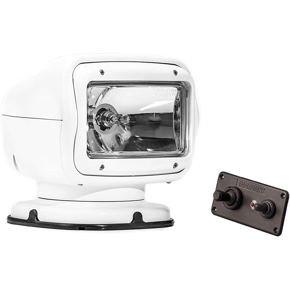 Golight 2020GT White Halogen Searchlight Permanent Mount, Dash Remote