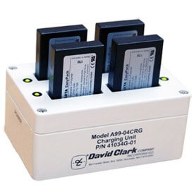David Clark 41034G-02 A99-14CRG 4 Bay Battery Charger Unit