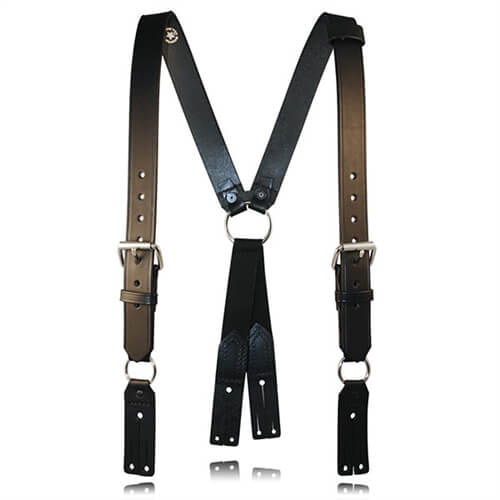 Boston Leather 9175XL Extra Large Firefighter's Suspenders (Button)