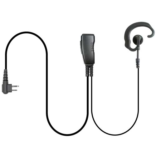 Pryme LMC-1EH03 Earpiece Hook, Lapel Mic - Motorola 2 Pin