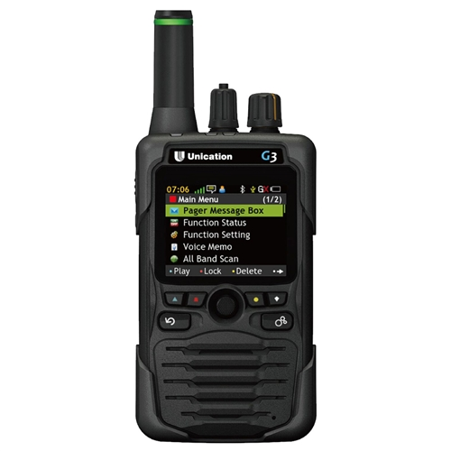 Unication G3 VHF/UHF 450-512 MHz Dual Band P25 Digital Voice Pager