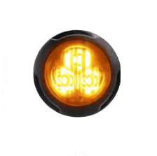 Federal Signal 416300-A Single Color, Amber, 3-LED, Clear Lens, Flush Mount