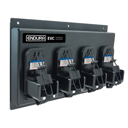 Endura EVC-KW4-4 12V DC 4-Unit Vehicle Charging Station - Kenwood NX-200, NX-5200