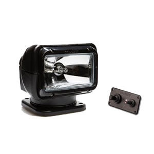 [2021ST] Golight 2021ST Black Halogen Searchlight Permanent Mount, Dash Remote