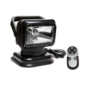 [2051GT] Golight 2051GT Black Halogen Searchlight Permanent Mount, Wireless