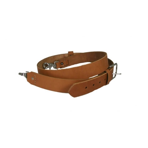 [6545-TAN-1] Boston Leather 6545-TAN-1 Wide, Tan Firefighter Radio Strap