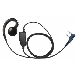 [EHS-B1W-K] Magnum EHS-B1W-K Braided Swivel Earpiece, Mic - Kenwood 2 Pin