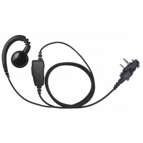 [EHS-B1W-S3] Magnum EHS-B1W-S3 Braided Swivel Earpiece, Mic - Icom