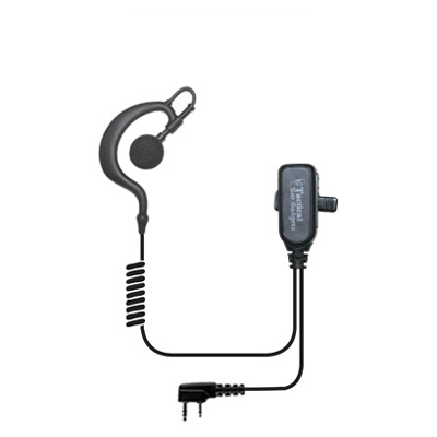 [EP301] EPC Falcon EP301 Lapel Mic w/ Earhook - Kenwood 2 Pin