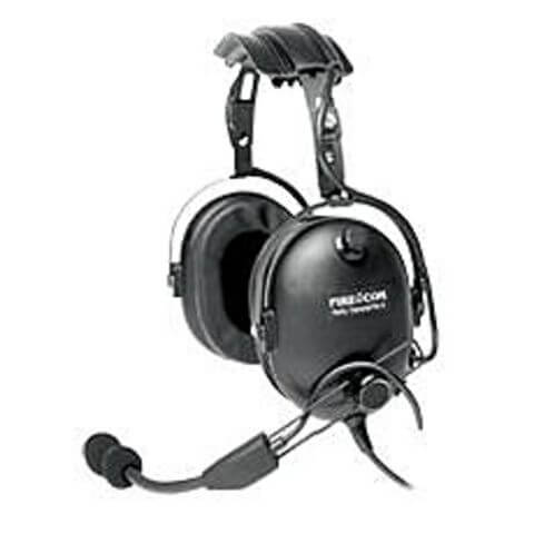 [FH-52] Firecom FH-52 Wired Listen-Only Headset - Black PTT