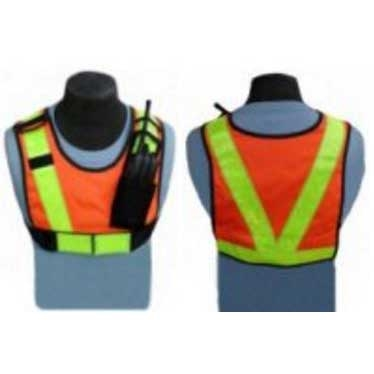 [HRV-400] CMA HRV-400 High Visibility Safety Vest, Radio Pouch