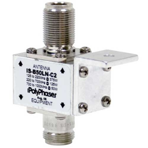 [IS-B50LN-C2] Polyphaser IS-B50LN-C2 Lightning Arrestor - N Female Connectors