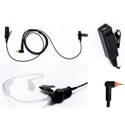 [M15-P2W-AT1] Impact M15-P2W-AT1 2-Wire Surveillance Kit, Acoustic Tube - Motorola TLK, SL300, 7000