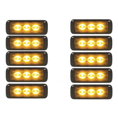 [MAG10X-MPS300U-A] Federal Signal MPS300U-A MicroPulse Ultra Amber - 10 Pack