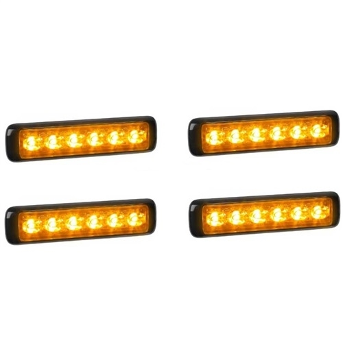 [MAG4X-MPS600U-AA] Federal Signal MPS600U-AA MicroPulse Ultra Amber 4 Pack