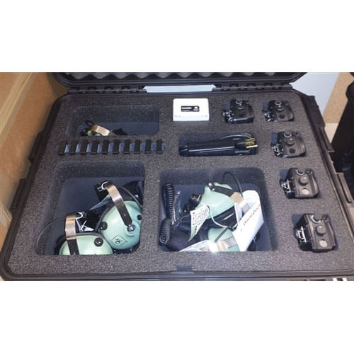[3F1402-1210J] 3F1402-1210J Wheeled Carrying Case for David Clark Wireless Headset System
