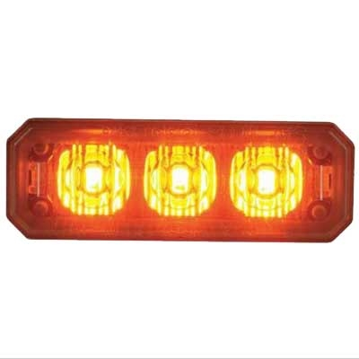 [MPS350-A] Federal Signal MPS350-A MicroPulse 3-LED Grille Mount - Amber