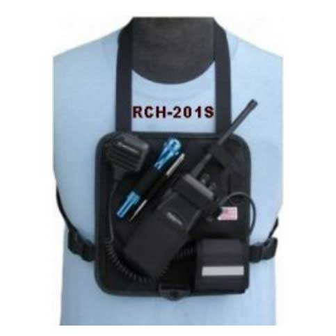 [RCH-201S] CMA RCH-201S Black Radio Chest Harness - Solid Back