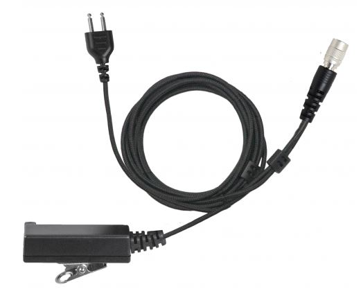 [SC-B2W-QD] Magnum Braided 2-Wire PTT Mic Base - QD 6-Pin HIROSE