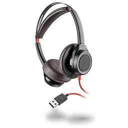 [211144-01] Poly Plantronics 211144-01 Blackwire 7225 Black Boomless Headset, USB-A