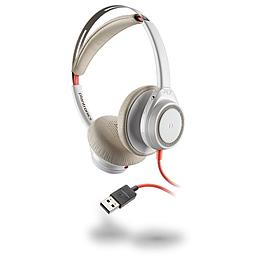 [211154-01] Plantronics 211154-01 Blackwire 7225 White Boomless Headset, USB-A