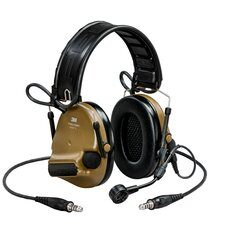 [MT20H682FB-19N CY] 3M Peltor MT20H682FB-19N CY ComTac VI NIB Headset - Brown Dual Comm