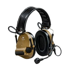 [MT20H682FB-09N CY] 3M Peltor MT20H682FB-09N CY ComTac VI NIB Headband + ARC Hearing Defender Headset - Brown