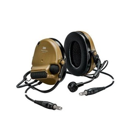 [MT20H682BB-19N CY] 3M Peltor MT20H682BB-19N CY ComTac VI NIB Dual Comm Neckband - Brown