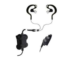 [CFX2ITEB-23] Silynx CFX2ITEB-23 Clarus FX2 Dual In-Ear Tactical Headset - Harris XG-75, P7300