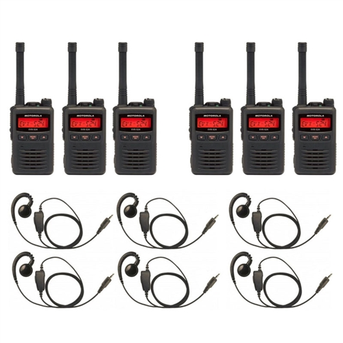 [S24-EHS-6Pack] Motorola EVX-S24 UHF Digital 2-Way Radio 6 Pack Bundle